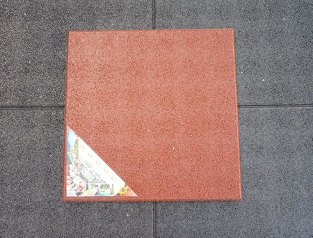 Dopadová pryžová dlaždice 50x50cm