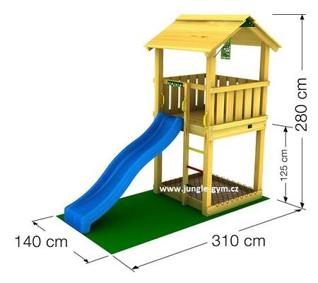 Dětské hřiště Jungle Casa - kompletní sestava včetně skluzavky