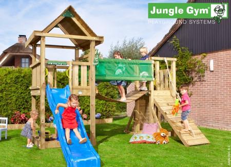 Dětské hřiště Jungle House - kompletní sestava včetně skluzavky