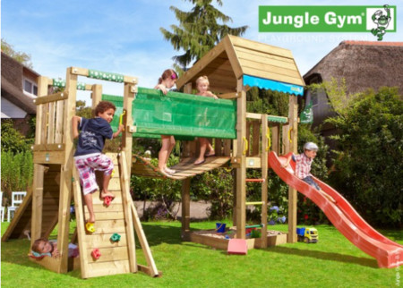 Dětské hřiště Jungle Home - kompletní sestava včetně skluzavky