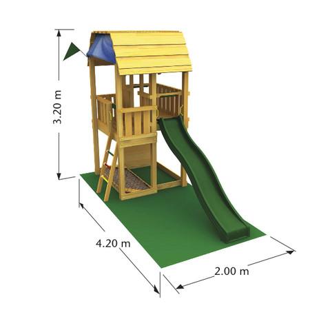 Dětské hřiště Jungle Barn - kompletní sestava včetně skluzavky