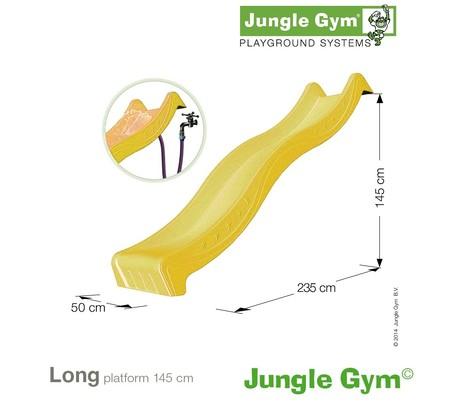 Jungle Gym skluzavka žlutá dlouhá s přípojkou pro vodu