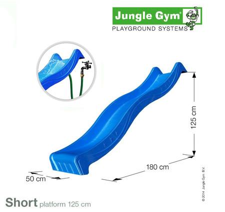 Jungle Gym skluzavka modrá krátká s přípojkou pro vodu