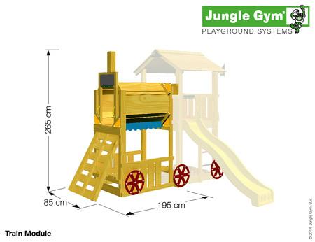 Hřiště Vláček Jungle Mansion s modulem Train - kompletní sestava včetně skluzavky