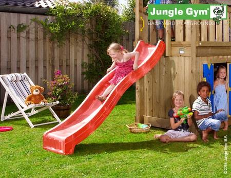 Jungle Gym skluzavka červená krátká s přípojkou na vodu