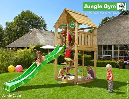 Dětské hřiště Jungle Cabin - kompletní sestava včetně skluzavky