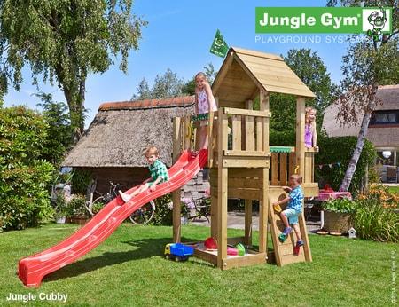 Dětské hřiště Jungle Cubby - kompletní sestava včetně skluzavky