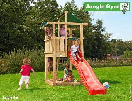 Dětské hřiště Jungle Hut - kompletní sestava včetně skluzavky