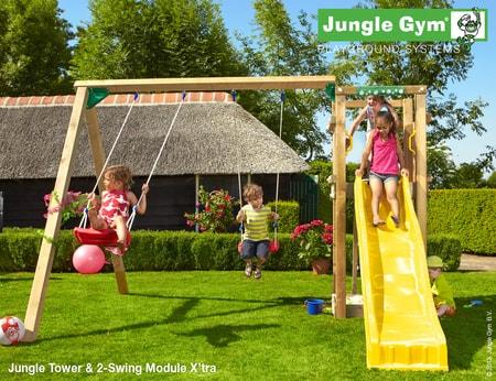 Dětské hřiště Jungle Tower - kompletní sestava včetně skluzavky