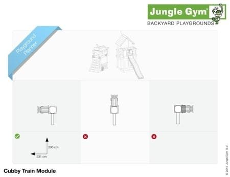 Hřiště Jungle Cubby s modulem Train - kompletní sestava včetně skluzavky