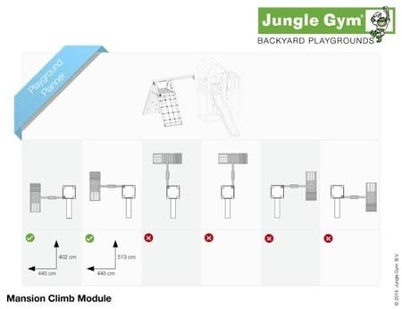 Hřiště Jungle Mansion s modulem Climb X´tra - kompletní sestava včetně skluzavky