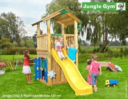 Hřiště Jungle Casa s modulem Playhouse - kompletní sestava včetně skluzavky