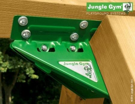 Hřiště Jungle Hut s houpačkami 2-Swing X´tra - kompletní sestava včetně skluzavky