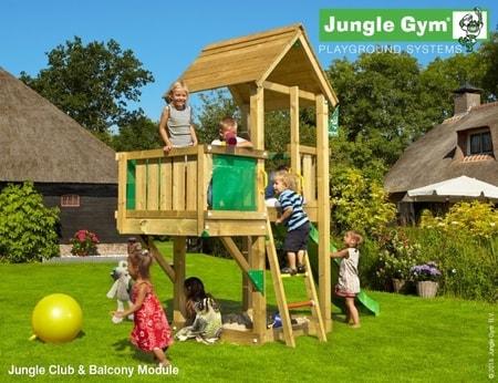 Hřiště Jungle Club s modulem Balcony - kompletní sestava včetně skluzavky