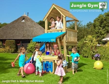 Hřiště jungle Club s modulem MiniMarket - kompletní sestava včetně skluzavky