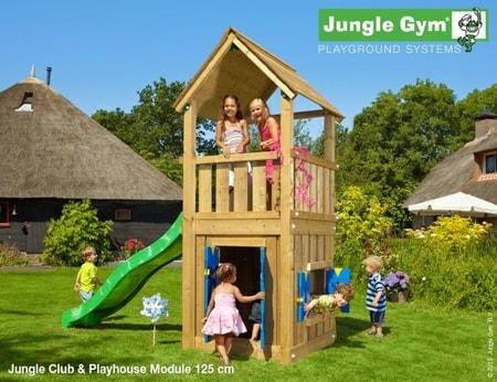 Hřiště Jungle Club s modulem Playhouse - kompletní sestava včetně skluzavky