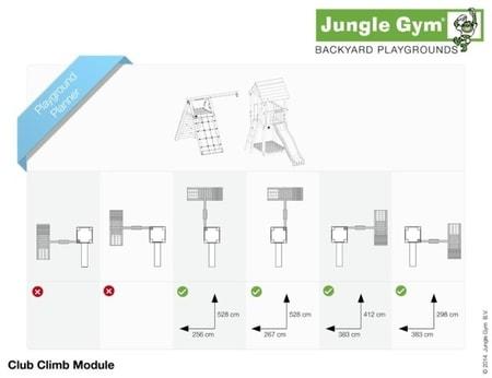 Hřiště Jungle Club s modulem Climb X´tra - kompletní sestava včetně skluzavky
