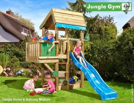 Hřiště Jungle Home s modulem Balcony - kompletní sestava včetně skluzavky