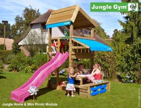 Hřiště Jungle Home s modulem Mini Picnic - kompletní sestava včetně skluzavky