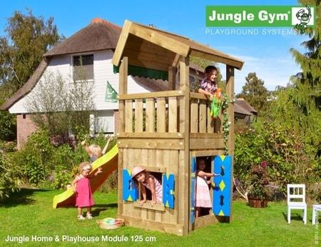 Hřiště Jungle Home s modulem Playhouse - kompletní sestava včetně skluzavky