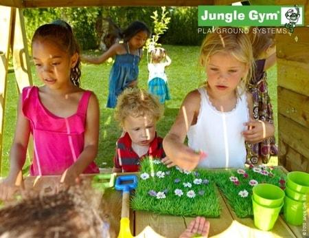 Hřiště Jungle Lodge s modulem MiniMarket - kompletní sestava včetně skluzavky