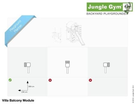 Hřiště Jungle Villa s modulem Balcony - kompletní sestava včetně skluzavky