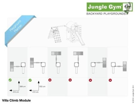 Hřiště Jungle Villa s modulem Climb X´tra - kompletní sestava včetně skluzavky