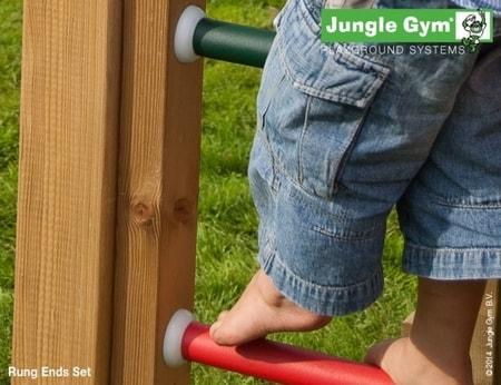 Hřiště Jungle Chalet s houpačkami 2-Swing X´tra - kompletní sestava včetně skluzavky