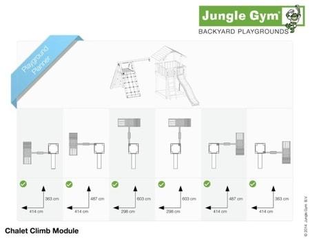 Hřiště Jungle Chalet s modulem Climb X´tra - kompletní sestava včetně skluzavky