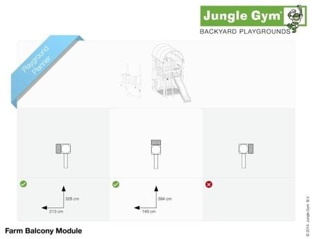Hřiště Jungle Farm s modulem Balcony - kompletní sestava včetně skluzavky