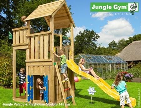 Hřiště Jungle Palace s domečkem Playhouse - kompletní sestava včetně skluzavky