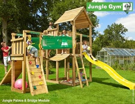 Hřiště Jungle Palace s modulem Bridge - kompletní sestava včetně skluzavky