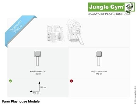 Hřiště Jungle Farm s domečkem Playhouse - kompletní sestava včetně skluzavky