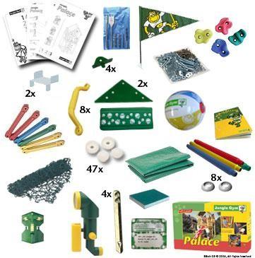 Dětské hřiště Jungle Palace - kompletní sestava včetně skluzavky