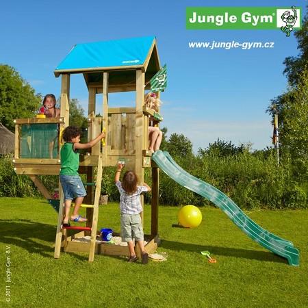 Dětské hřiště Jungle Castle - kompletní sestava včetně skluzavky