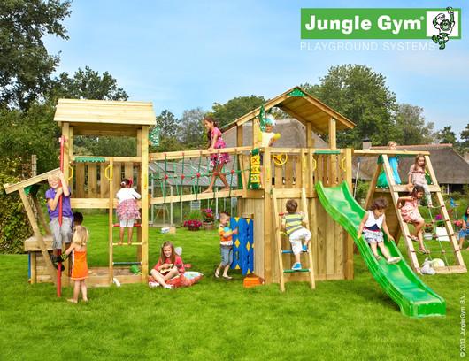 Velká dětská hrací sestava Jungle Gym 3. včetně skluzavek