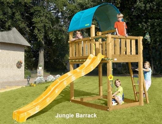 Dětské hřiště Jungle  Barrack - kompletní sestava včetně skluzavky