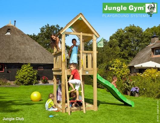 Dětské hřiště Jungle Club - kompletní sestava včetně skluzavky