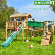 Jungle Playhouse s terasou XL  a  Bridge Module