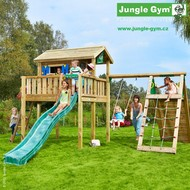 Jungle Playhouse s terasou XL  a Climb Module Xtra